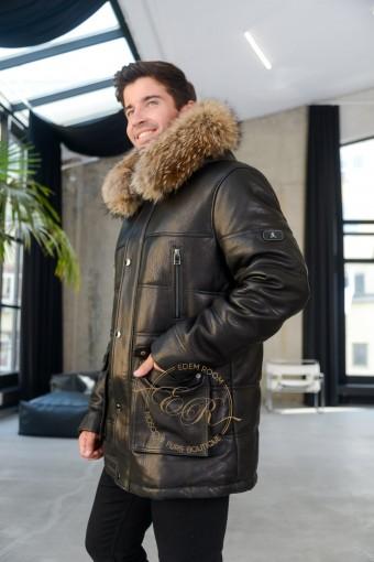 Хит продаж ! Зимняя куртка из кожи JUMBA