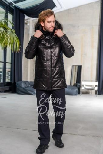 Классическая зимняя кожаная куртка