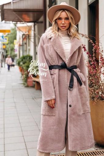 Шуба - пальто из натуральной шерсти