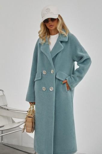 Пальто - шуба из тканной шерсти