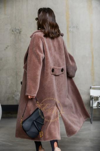 Шерстяное пальто - шуба