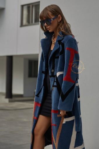 Пальто из шерсти с буквами
