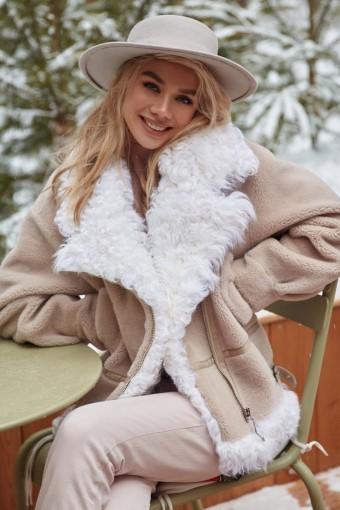 Куртка для зимы из натуральной шерсти