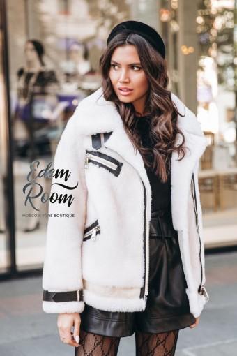 Белая куртка - Авитор из шерсти