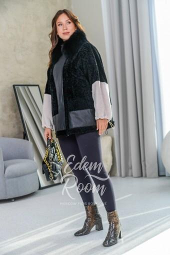 Итальянская куртка - дублёнка из меха керли