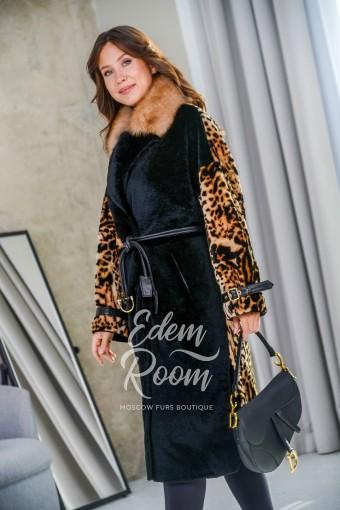 Облегчённая дублёнка - пальто Леопард