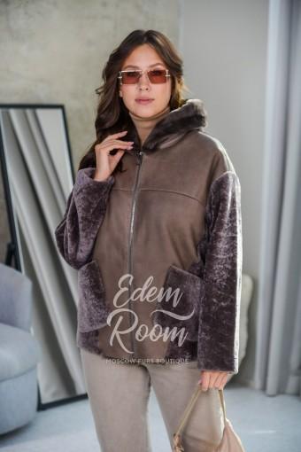 Дублёнка - куртка с капюшоном