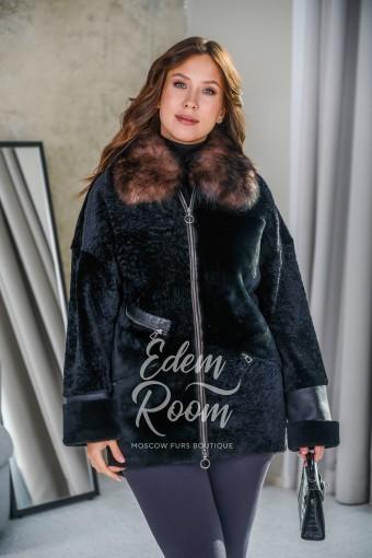 Меховая куртка - дублёнка из астрагана