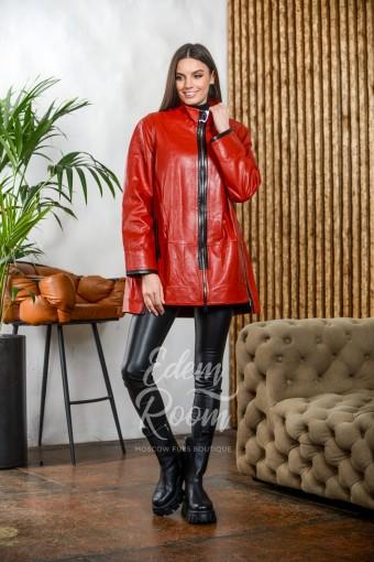 Классическая кожаная куртка на молнии