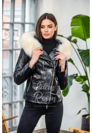 Кожаная куртка для межсезонья