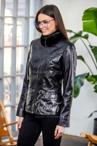 Межсезонная кожаная куртка