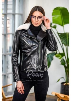 Кожаная куртка  - косуха для межсезонья