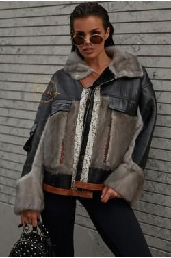 Эксклюзивная куртка - дублёнка с норкой