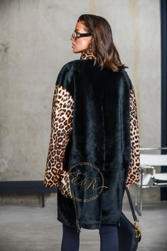 Демисезонная дублёнка - пальто