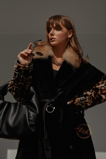 Облегчённая дубленка - пальто