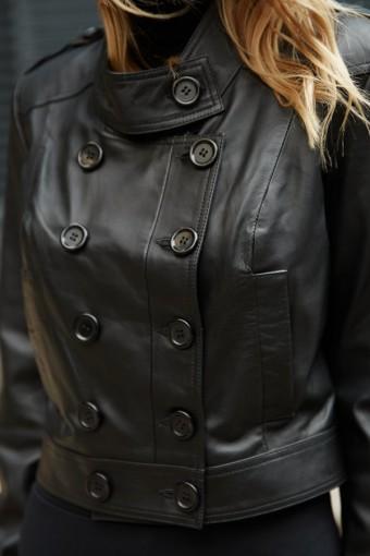 Короткая куртка - болеро из натуральной кожи