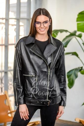 Куртка - оверсайзс из натуральной кожи