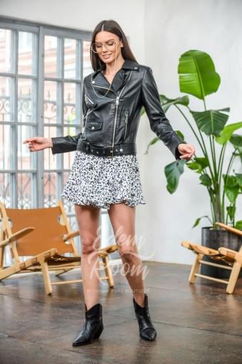 Чёрная куртка - косуха из натуральной кожи