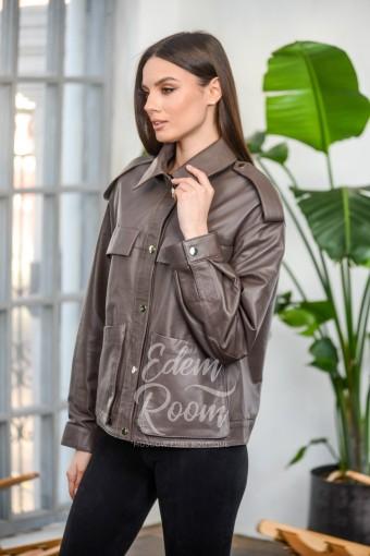 Модная куртка - рубашка из натуральной кожи