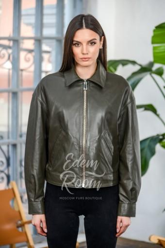Куртка из натуральной кожи свободного кроя