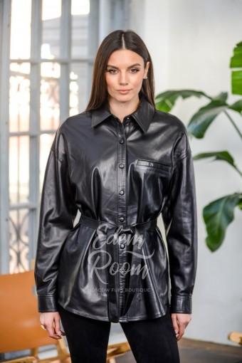 Куртка - рубашка из натуральной кожи