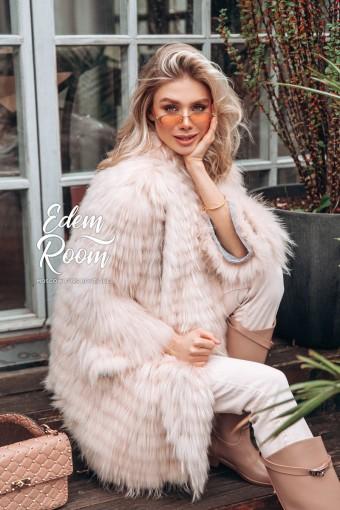 Меховое пальто из лисы в росшив