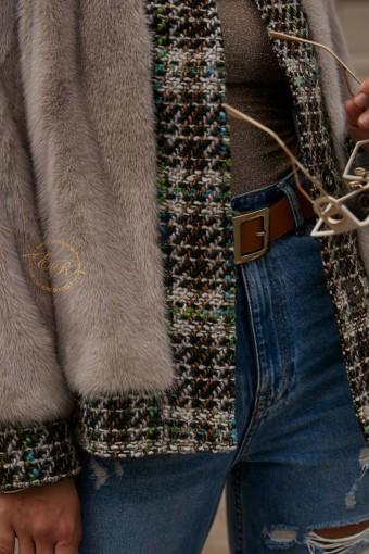 Норковая куртка с букле