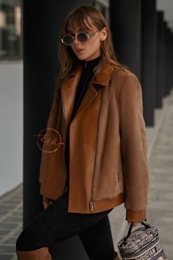 Куртка из кожи меха норки