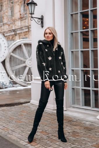 Норковая куртка со звёздами