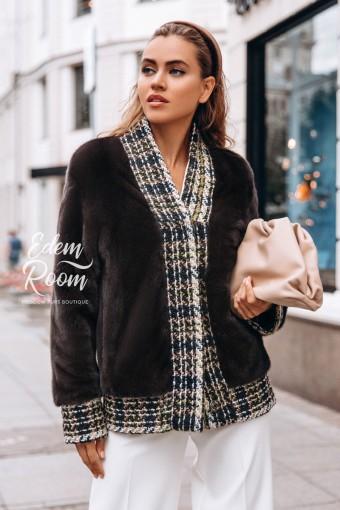 Куртка из меха норки с букле