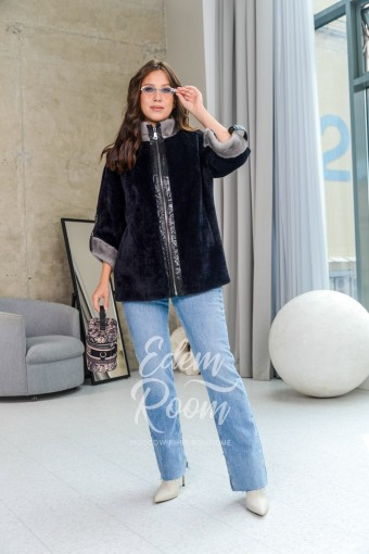 Пальто - куртка из ткани альпаки