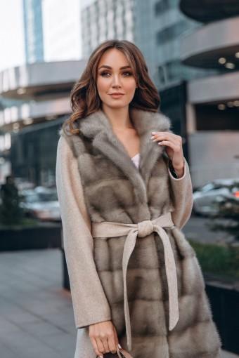Элитное пальто из меха норки