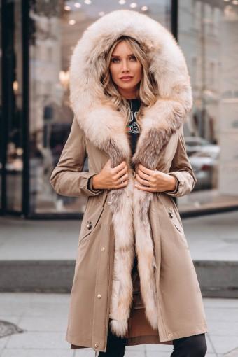 Парка - пальто для зимы с мехом