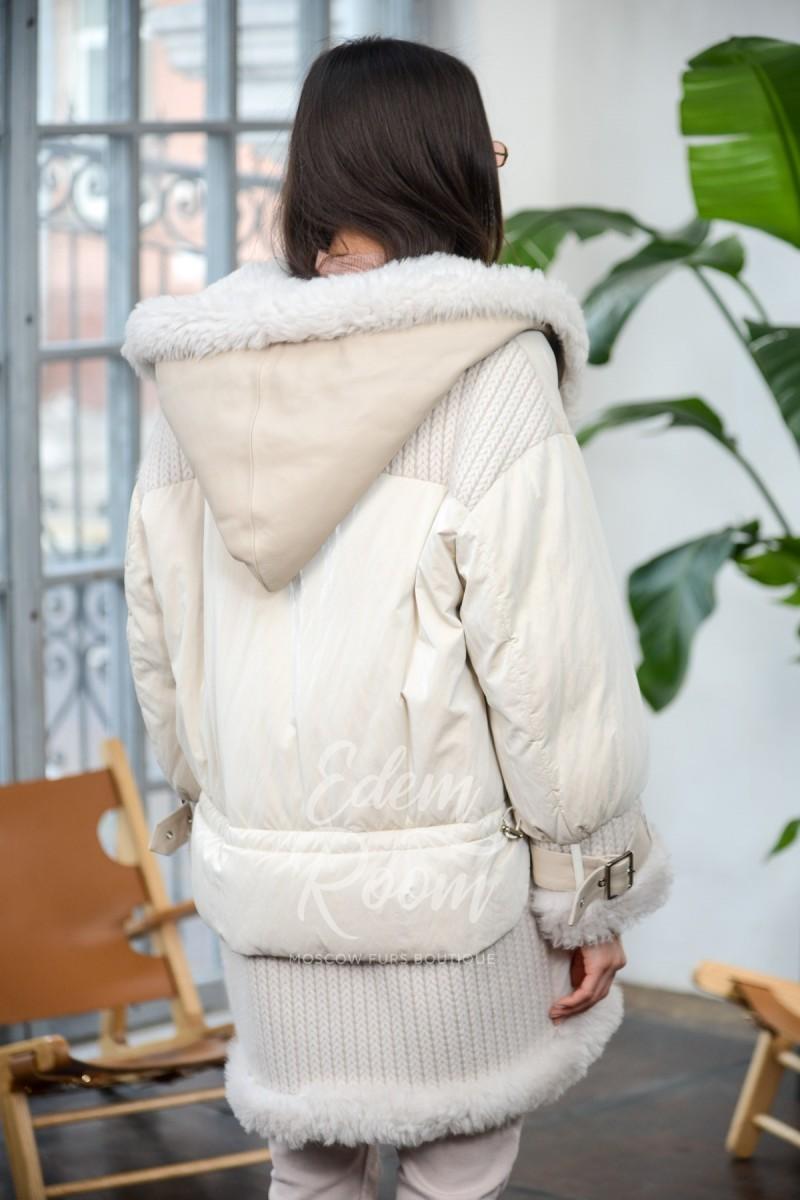 Куртка пуховик - дублёнка