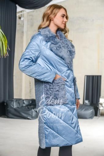 Женский пуховик -пальто