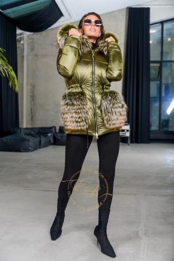 Модная пуховая куртка