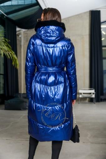 Пуховик  - пальто с мехом норки