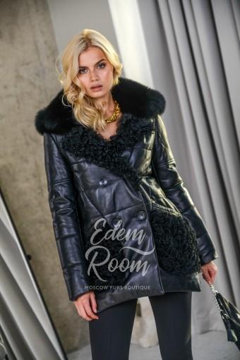 Утеплённая кожаная куртка для евро-зимы