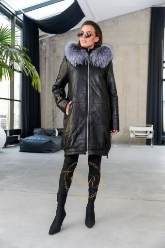 Кожаное пальто для еврозимы