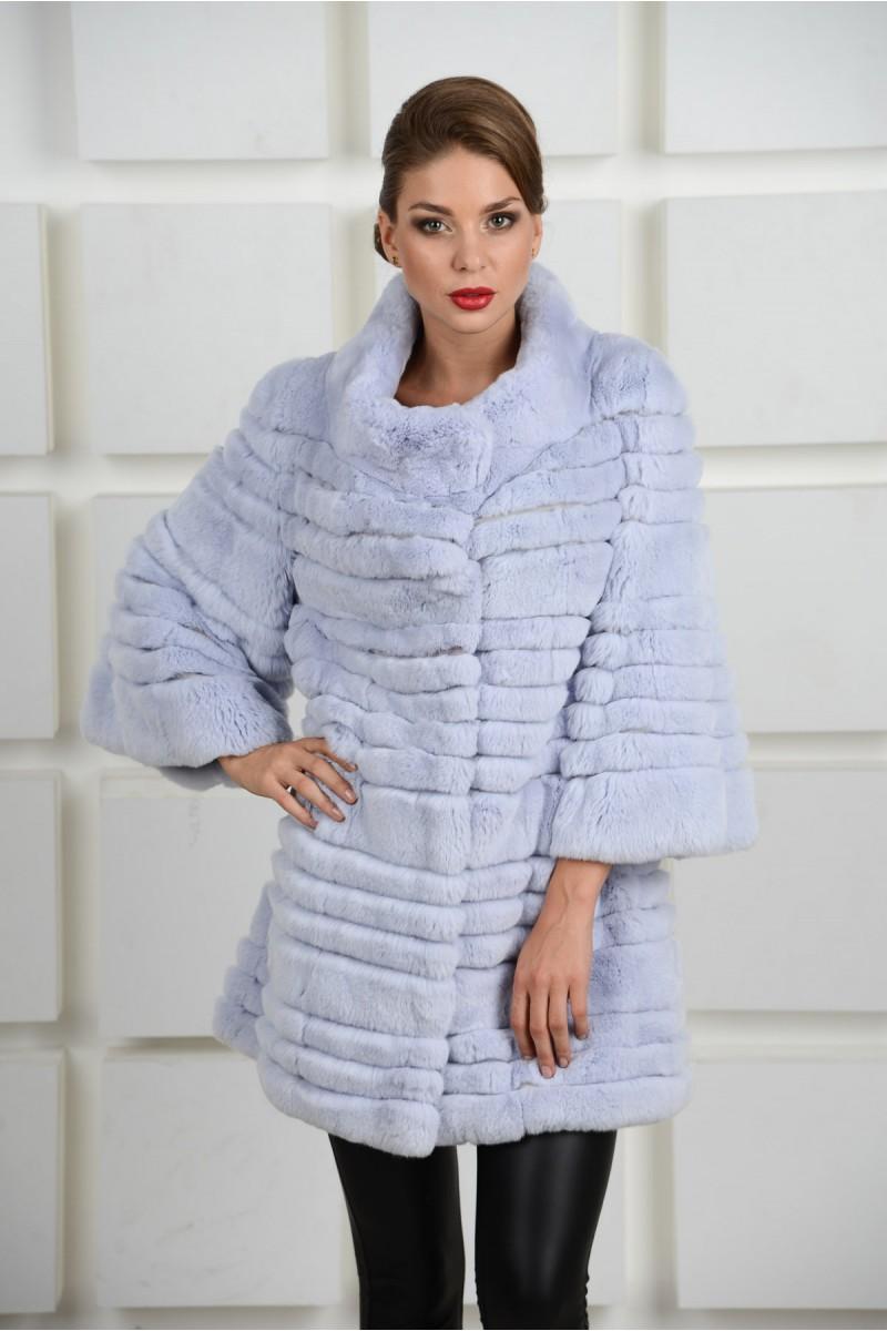 Модная Шуба из кролика Рекс