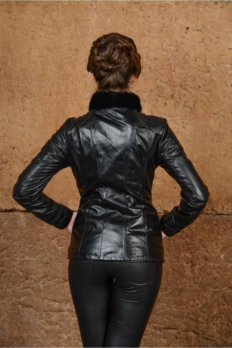 Молодёжная кожаная куртка