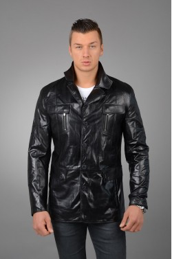 Стильная кожаная куртка мужская