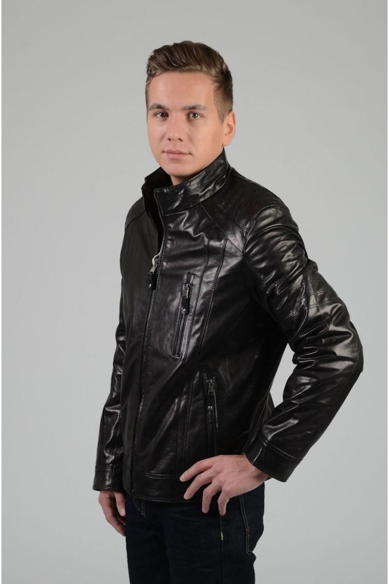 Весенняя кожаная куртка мужская