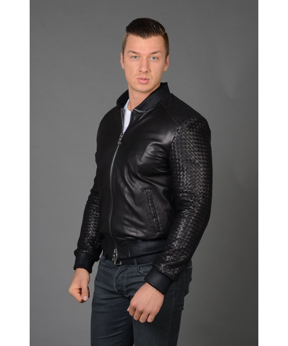 5024fc976bb8 Купить Мужскую кожаную куртку PHILIPP-PLEIN в интернет магазине