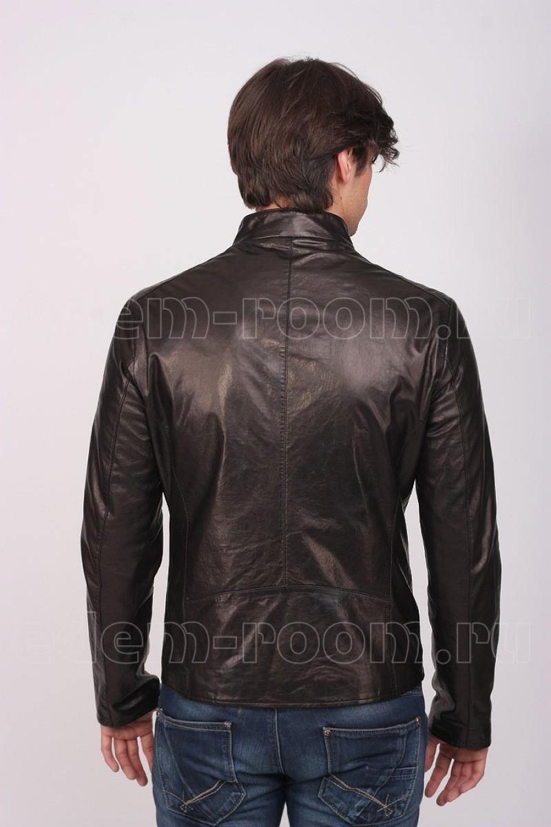 Модная мужская кожаная куртка осень-весна