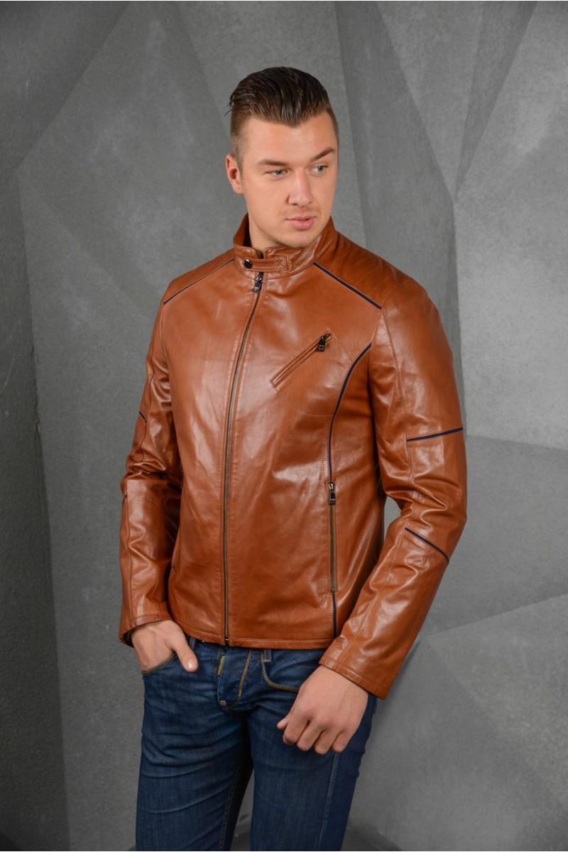 Куртка кожаная мужская на весну