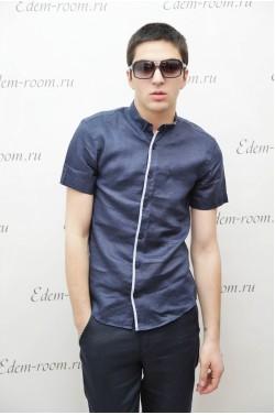 Синяя летняя рубашка