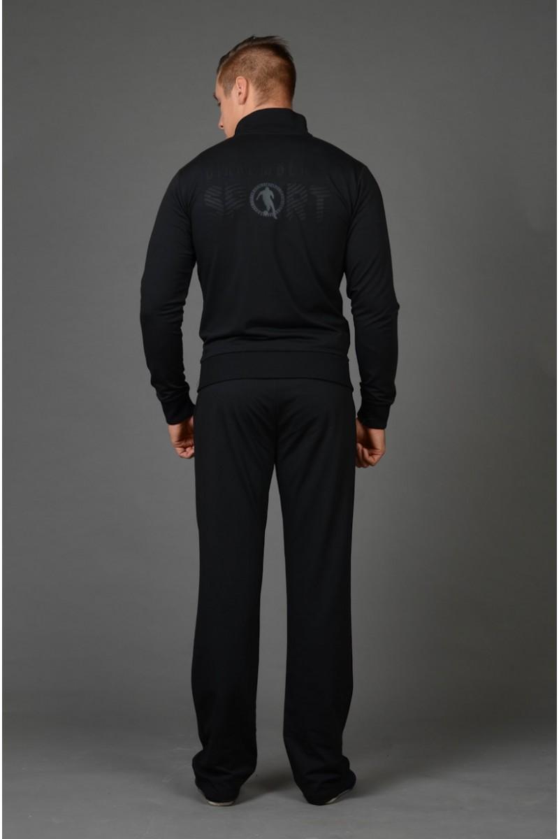 Чёрный мужской спортивный костюм