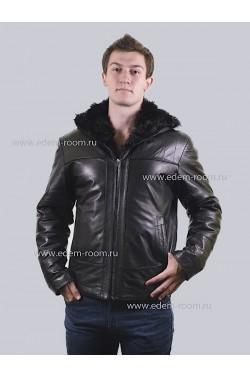 Мужская куртка - дубленка с мехом барашка.