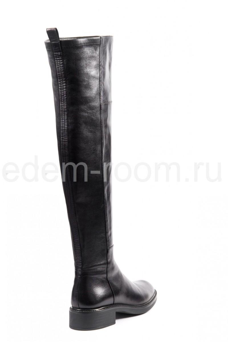 Удлинённые кожаные сапоги